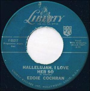 Hallelujah I Love Her So - Image: Eddie Cochran Hallelujah I Love Her So F 55217
