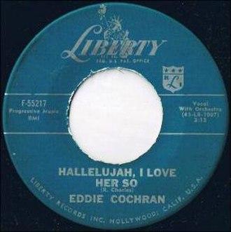 Hallelujah I Love Her So - Image: Eddie Cochran Hallelujah I Love Her So F 55217