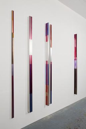 Eric Butcher - ER.358 Oil and resin on extruded aluminium box sections.