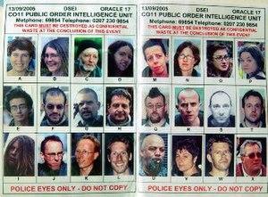 Forward intelligence team - Image: FIT spotter card