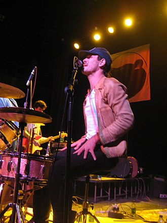 The Felice Brothers - Simone Felice performing with The Felice Brothers at the Bearsville Theater in Woodstock, NY in April 2008