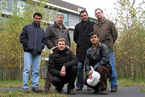 Ne-XVP - Ne-XVP team at the end of 2008. (left-to-right, top-to-bottom) Surendra Guntur, Jan Hoogerbrugge, Ghiath Al-Kadi, Marc Duranton, Andrei Terechko, Anirban Lahiri.