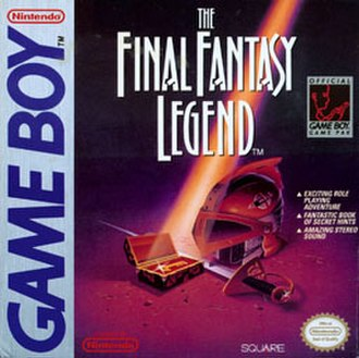 The Final Fantasy Legend - Box art of the North American Game Boy release, titled The Final Fantasy Legend