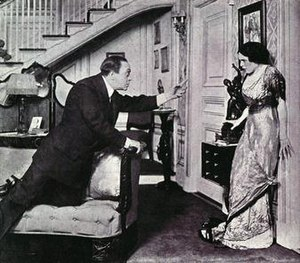 Bronx Opera House - Robert Edeson as Robert Reynolds and Lolita Robertson as Jane Reynolds in 1912 for the original stage production of Fine Feathers