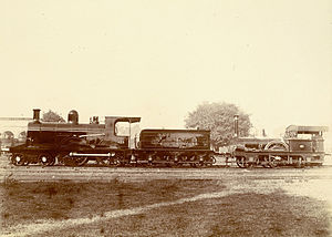 Howrah Junction railway station - Image: First locomotive india 1854 photo 1894