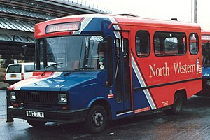 North Western Road Car Company (1986) - Carlyle Works bodied Freight Rover in Liverpool