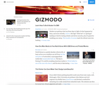 Gizmodo Website about technical topics
