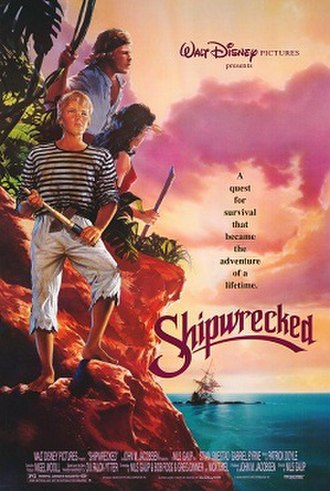 Shipwrecked (1990 film) - International theatrical release poster by John Alvin