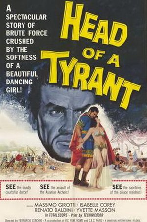 Head of a Tyrant - Image: Head of a tyrant movie poster 1960 1020253911
