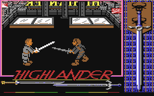 Ocean Software - Screenshot of Highlander for the Commodore 64