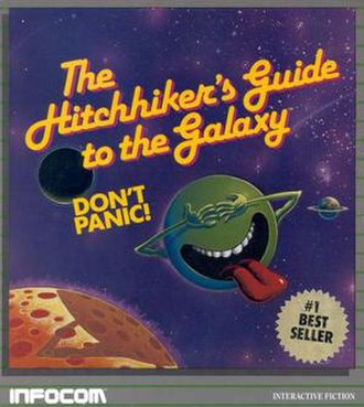 The Hitchhiker's Guide to the Galaxy (video game) - Cover art