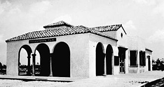Indiantown, Florida - The Indiantown Seaboard Air Line Railway depot, now demolished