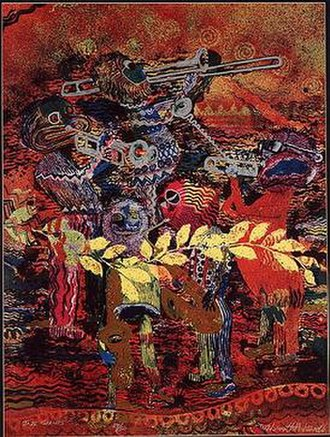 Wadsworth Jarrell - Jazz Giants, lithograph, 1987