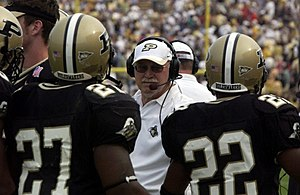 Purdue Boilermakers football - Joe Tiller, Purdue's all-time leader in victories (87).