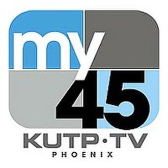 """KUTP - KUTP's logo as """"My 45"""", used from June 2006 to August 2017."""