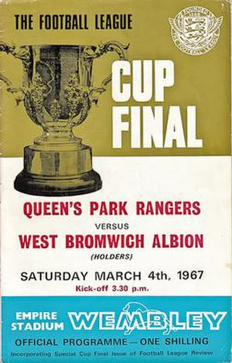 1967 Football League Cup Final - Match programme cover