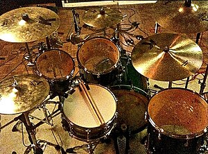 Marshall Goodman - Goodmans drum kit. 2007. Photo by Joe Fish.