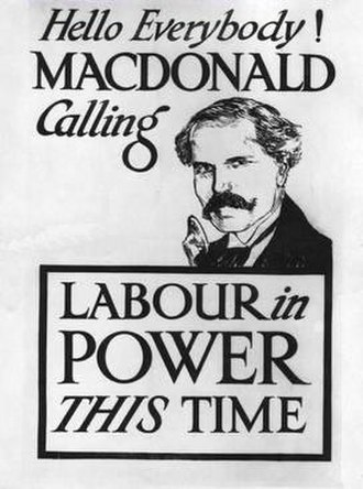 Ramsay MacDonald - Election poster produced for the 1923 election
