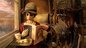 Madame Tutli-Putli - Madame Tutli-Putli reading on the train.