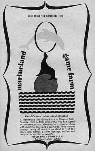 "Marineland of Canada - A 1967 flyer for Marineland, using the older name ""Marineland and Game Farm"""