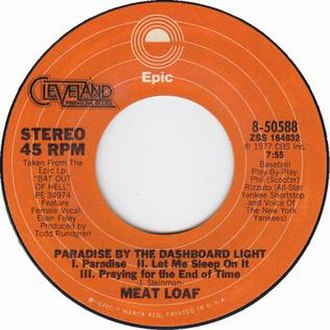 Paradise by the Dashboard Light - Image: Meat loaf paradise by the dashboard light epic cleveland international