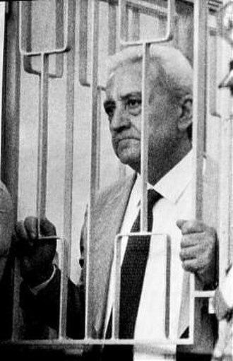 Michele Greco - Mafia boss Michele Greco during the Maxi Trial.