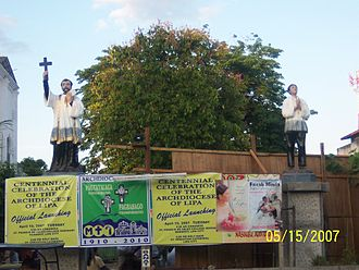 Nasugbu, Batangas - St. Francis Xavier and St. Lorenzo Ruiz, the two patrons of the Town.