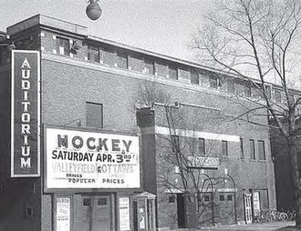 Ottawa Auditorium - Auditorium in 1953. Senators game and Minto Follies upcoming events