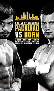 Manny Pacquiao vs. Jeff Horn 2017 boxing match