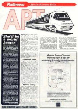 Railnews - A Railnews special edition on the Advanced Passenger Train from 1980