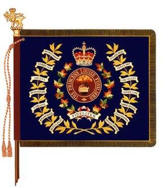 The Princess Louise Fusiliers - Image: Regimental Colour of the Princess Louise Fusiliers