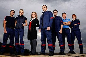 Rescue: Special Ops - Season 1 characters (left to right): Jordan Zwitkowski, Lara Knight, Michelle LeTourneau, Dean Gallagher, Chase Gallagher, Vince Marchello and Heidi Wilson