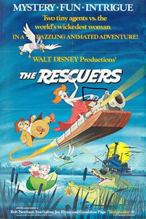<i>The Rescuers</i> 1977 American animated film produced by Walt Disney Productions