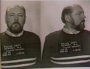 Mugshot taken of Richard Kuklinski, taken foll...