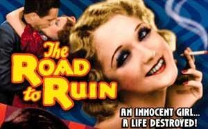Helen Foster (actress) - The above photograph, of Helen Foster, was used on 1934 Pre-Code film, The Road to Ruin theatrical release poster