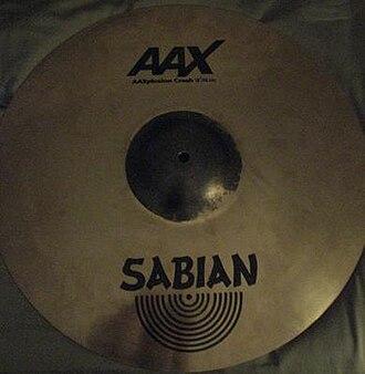 """Crash cymbal - An 18"""" Sabian AAX X-plosion Crash."""