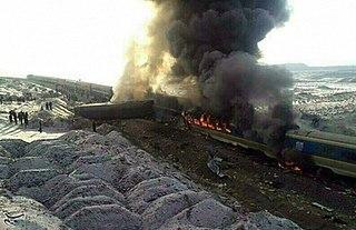 Semnan–Damghan train collision