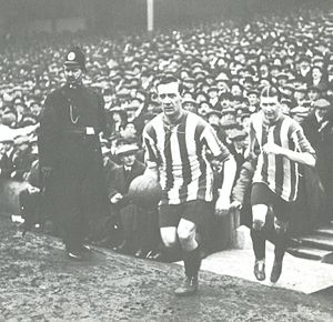 Sheffield United F.C. - Captain George Utley leads Sheffield United out for the 1915 FA Cup final.