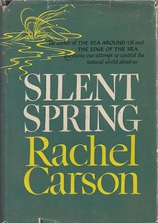 <i>Silent Spring</i> A book written by Rachel Carson about pesticides harming the environment.
