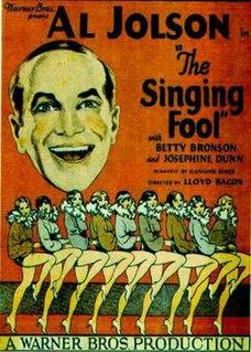 <i>The Singing Fool</i> 1928 film by Lloyd Bacon