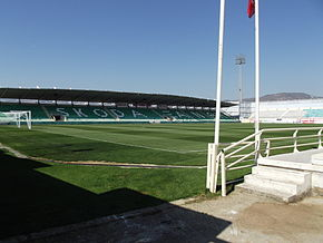 Skoda Xanthi Arena, pitch and secondary stand.jpg