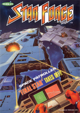 European arcade flyer of Star Force.