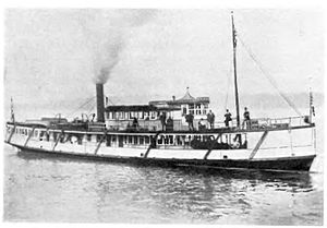 Fleetwood (steamboat) - steamboat Fleetwood, circa 1890, probably somewhere on Puget Sound