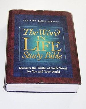 A study Bible.