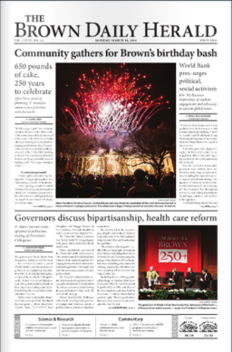 The Brown Daily Herald - Image: The Brown Daily Herald March 19th