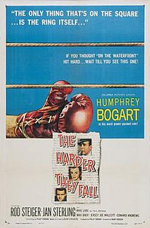 <i>The Harder They Fall</i> 1956 film by Mark Robson