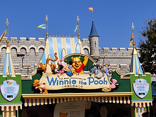 The Many Adventures of Winnie the Pooh (attraction) dark ride at Disney theme parks themed after Disneys Winnie the Pooh