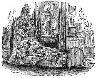 """The Old Curiosity Shop - """"At Rest"""" Illustration by George Cattermole"""