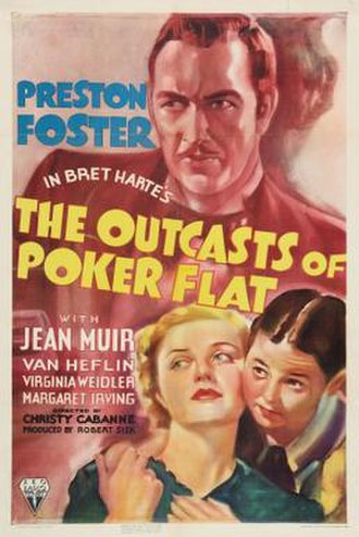 The Outcasts of Poker Flat (1937 film) - Theatrical release poster