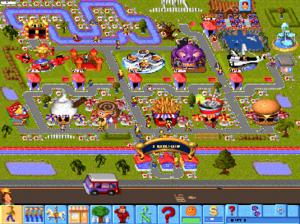Theme Park (video game) - A typical Theme Park.